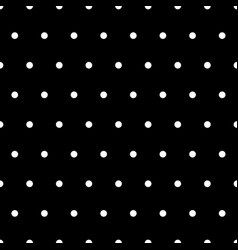 white polka dots on black background vector image