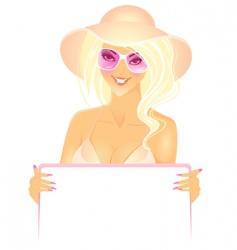 women presentation in hat vector image