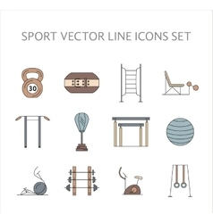 Workout and gym training icons set vector