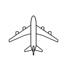Black plane outline vector image vector image