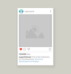 mobile app photo frame vector image