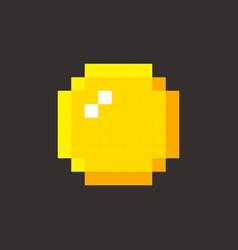 pixel art golden coin retro video game vector image vector image