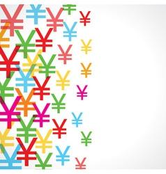 Seamless pattern background of yen symbols vector image