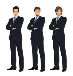 Set of business men vector