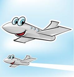 airplane cartoon vector image