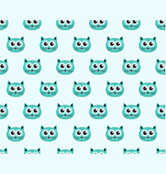 cat seamless pattern fashionable modern endless vector image