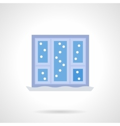 Christmas window flat color icon vector image