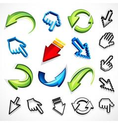 computer arrow icons vector image