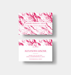 creative modern fashioner business card with vector image vector image