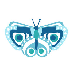 Cute blue butterfly vector