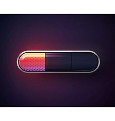 glossy navigation buttons vector image vector image