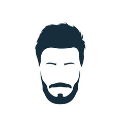 hipster with trendy modern hairstyle mustache vector image vector image