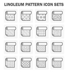 Linoleum icon vector image