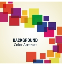 Multicolored sqaures with abstract shapes vector image vector image