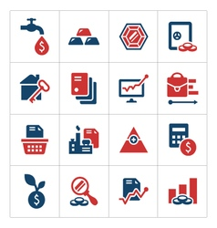 Set color icons of investment and finance vector image vector image