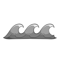 Three waves icon cartoon style vector image vector image