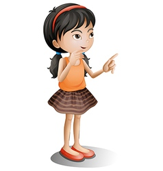 A thinking girl vector image vector image