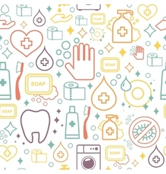 doodle pattern of cleaning tools Cleaning vector image