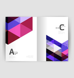 mosaic triangle annual report template vector image vector image