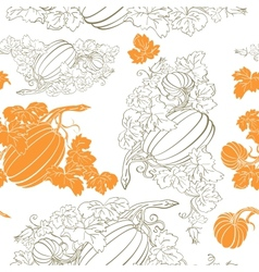 Pumpkin Background seamless pattern vector image