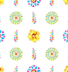 Watercolor Retro pattern of geometric shapes vector image vector image