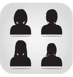 avatar profile icon head silhouette vector image vector image
