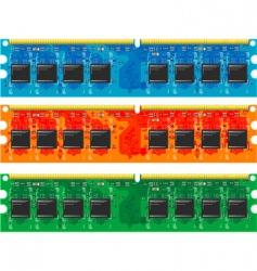 computer memory vector image vector image