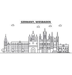 germany wiesbaden architecture line skyline vector image vector image