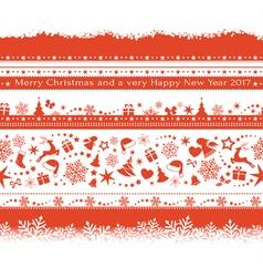 Seamless Christmas borders vector image vector image