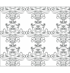 Abstract graphic ornament pattern vector image