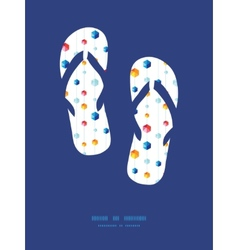 Abstract hanging jewels striped flip flops vector