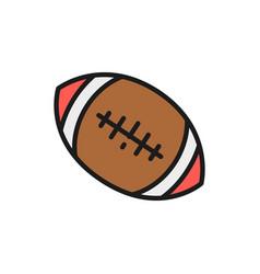 american football ball flat color line icon vector image