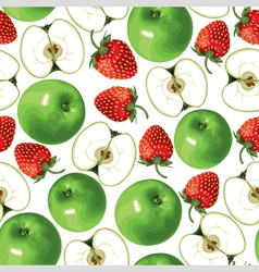 apple strawberry vector image vector image