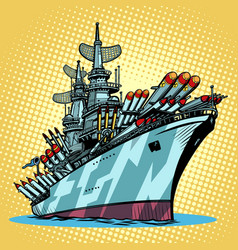 Battleship warship missile cruiser vector