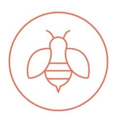 Bee line icon vector image
