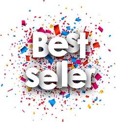 Best seller paper background vector image