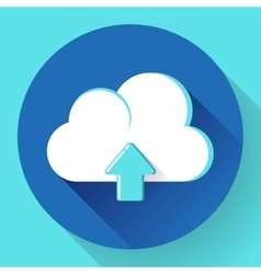Blue Cloud Upload icon vector