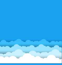 blue sky white clouds background vector image