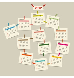calendar 2012 for your design vector image