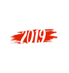calligraphy for 2019 new year pig vector image