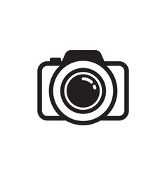 camera photography icon design template isolated vector image