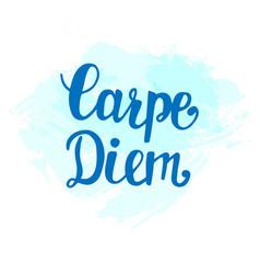 Carpe diem inspirational hand lettering vector