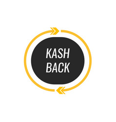 cashback logo icon modern flat style vector image