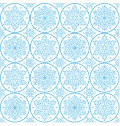 christmas folk art pattern - blue snowflake vector image