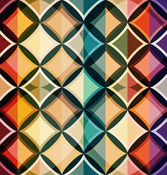 Color mosaic seamless pattern vector