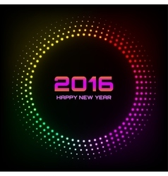 Colorful Bright Abstract New Year 2016 Background vector image