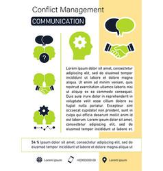Conflict management brochure vector