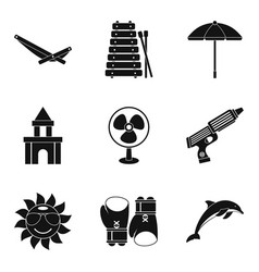 Cooling icons set simple style vector