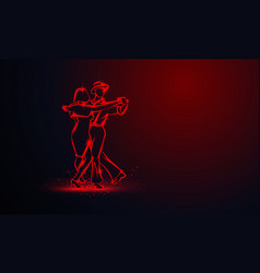 couple dancing foxtrot vector image