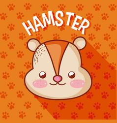 Cute hamster cartoon vector